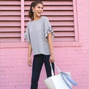 Adelphi Blouse in Grey